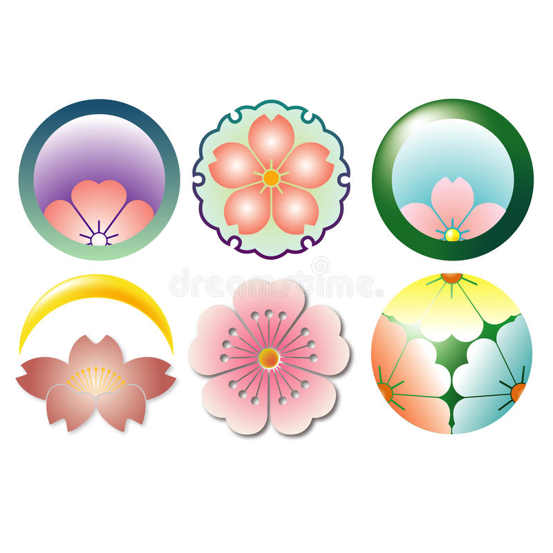 The Family Crest Of Traditional Cherry Blossoms Stock Photography