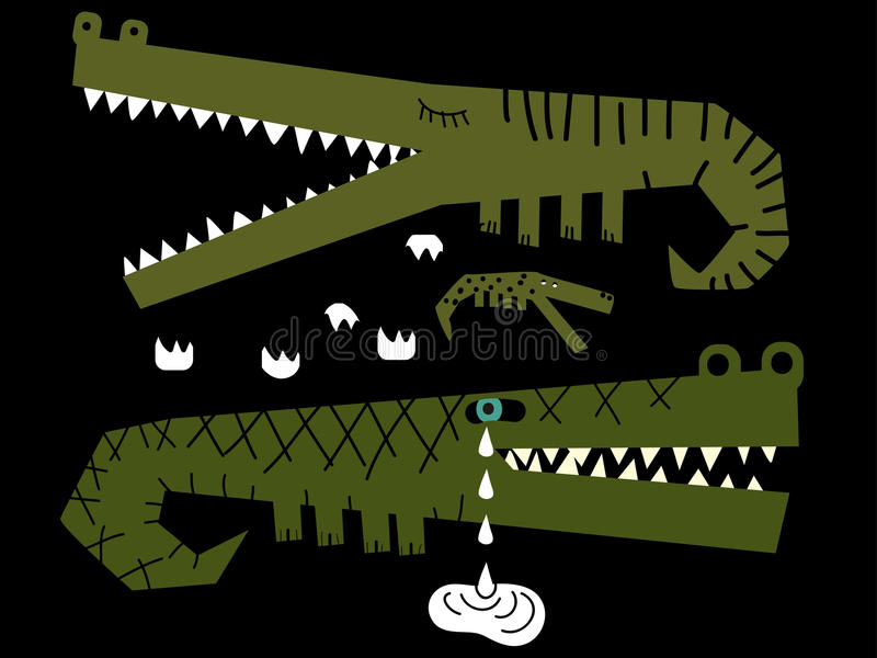 Download Family Of Crocodiles Where One Of Them Cries Stock Photography - Image: 18364292