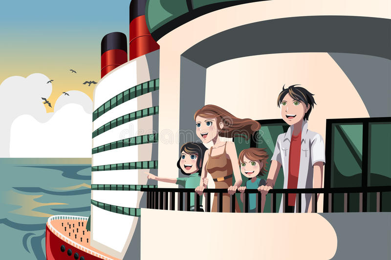 Download Family On A Cruise Trip Royalty Free Stock Photos - Image: 26080318