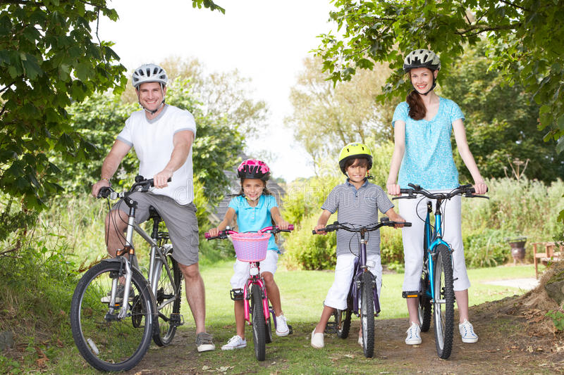 Download Family On Cycle Ride In Countryside Stock Photo - Image: 33087578