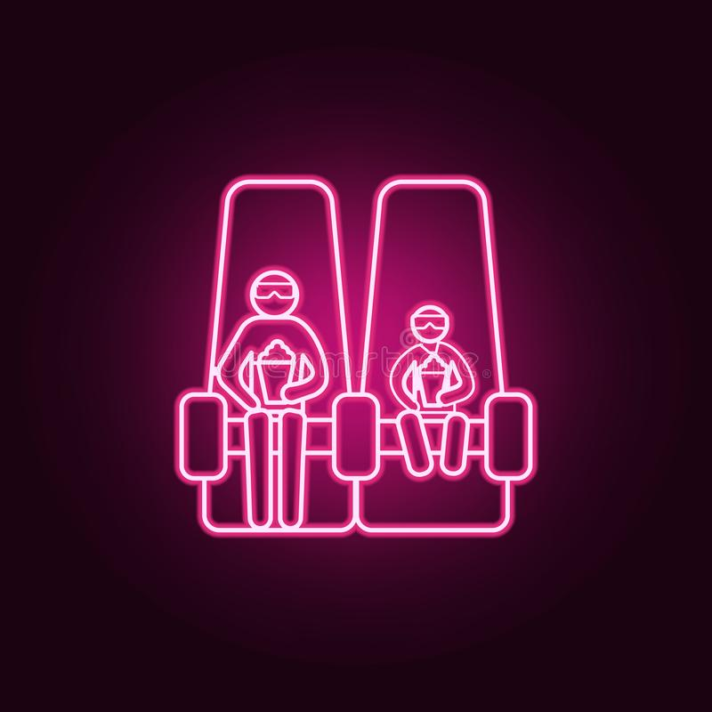family in 3d session icon. Elements of Cinema in neon style icons. Simple icon for websites, web design, mobile app, info graphics stock illustration