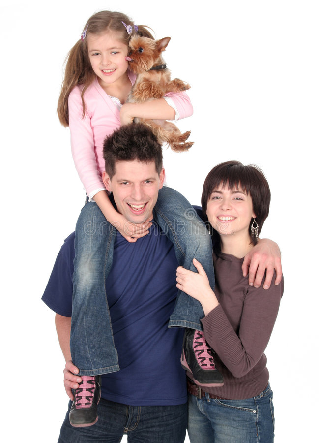 Family With Daughter royalty free stock photos
