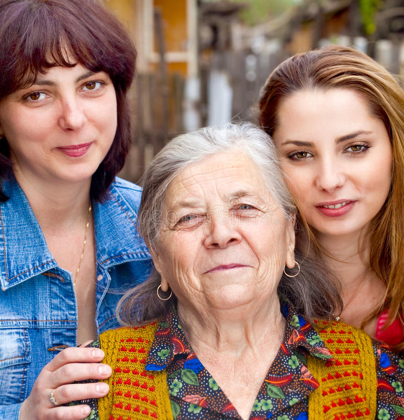 Download Family - Daughter Granddaughter And Grandmother Stock Photo - Image: 12991546