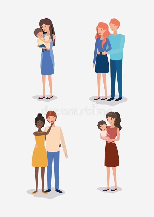 Family day members characters. Vector illustration design royalty free illustration