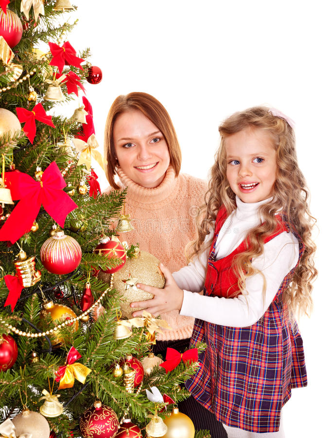 Download Family Decorate Christmas Tree. Royalty Free Stock Photos - Image: 35353558