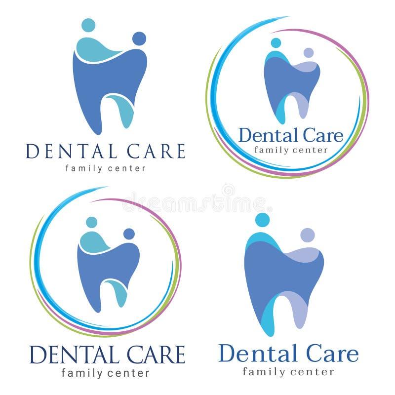 Family dental. Abstract Vector illustration of teeth. Dental logo. Family dental clinic. Family dental logo icon vector royalty free illustration