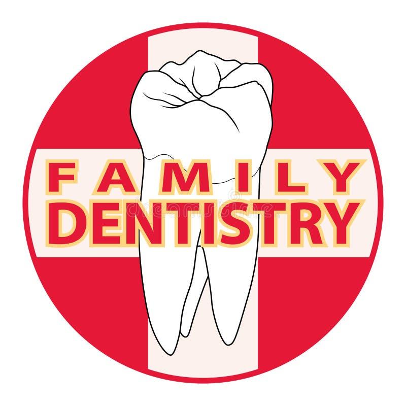 Family Dentistry royalty free illustration