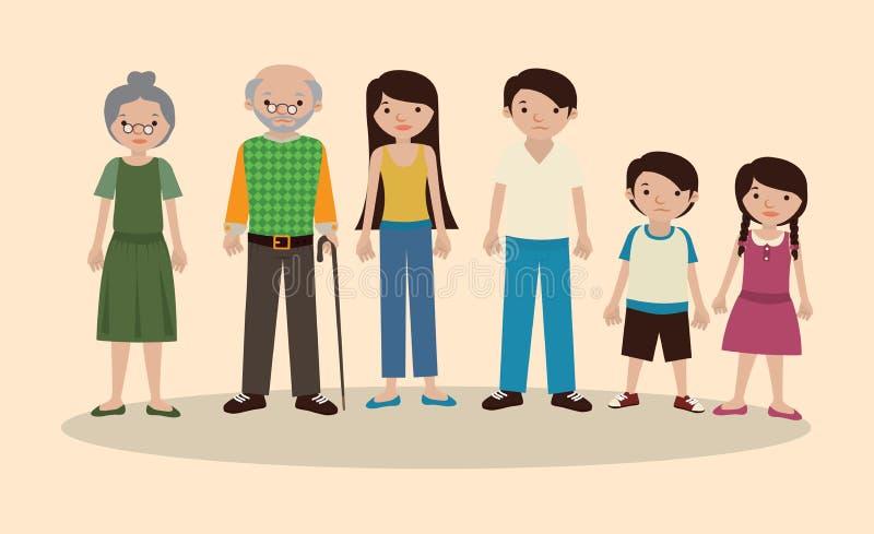 Family design. Over pink background vector illustration stock illustration