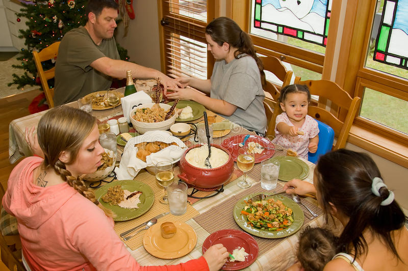 Family Dinner Table royalty free stock images