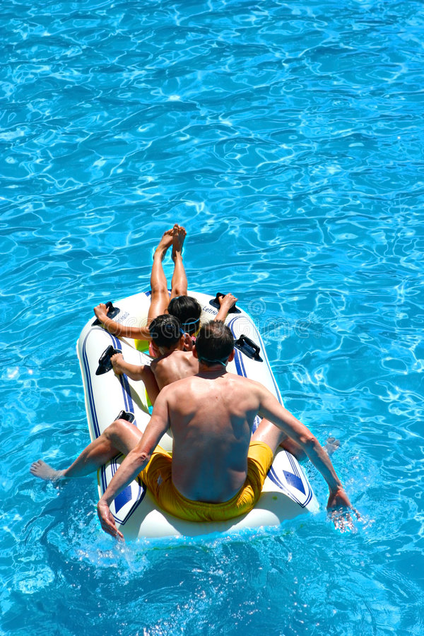 Download Family Dinghy Fun Ride Stock Photo - Image: 2308160