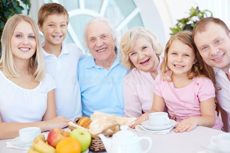 Family dinner stock photos