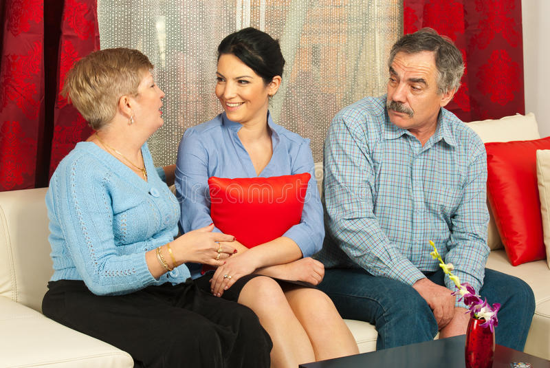 Family disucssion royalty free stock photos