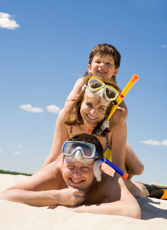 Family Of Divers Royalty Free Stock Images