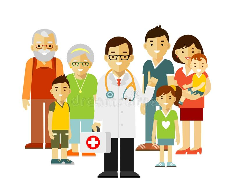 Family Doctor Concept With Young Practitioner And Happy