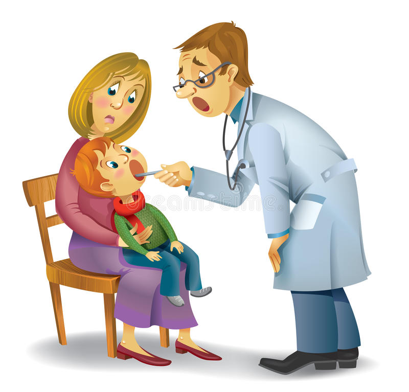 Family doctor royalty free illustration