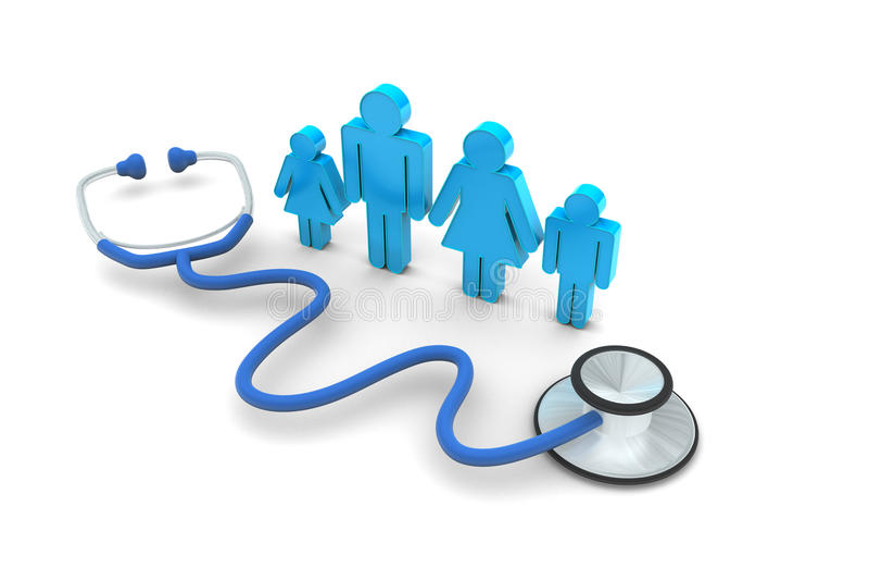 Family Doctor Visit stock illustration. Illustration of ...