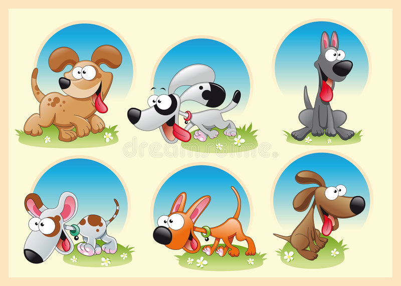 Download Family of dogs stock vector. Image of artistic, soft, dane - 7231194