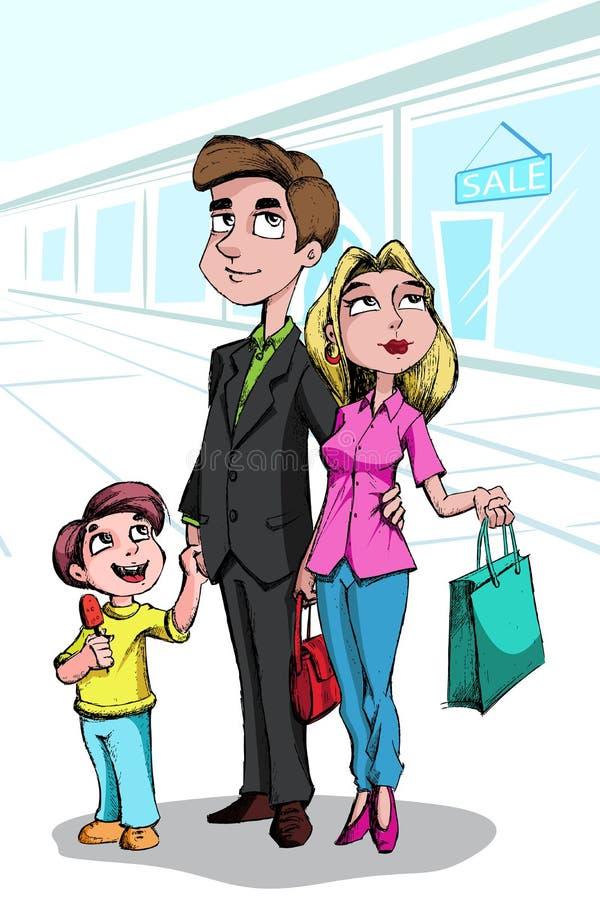 Family Doing Shopping Stock Image