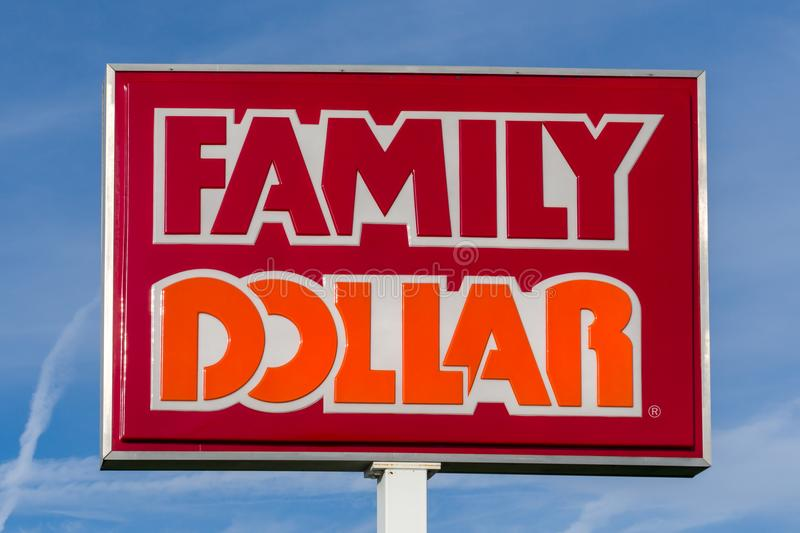 Family Dollar Store And Sign Editorial Stock Photo Image Of