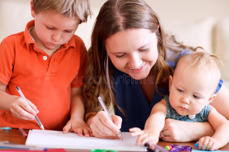 Family Drawing Stock Images