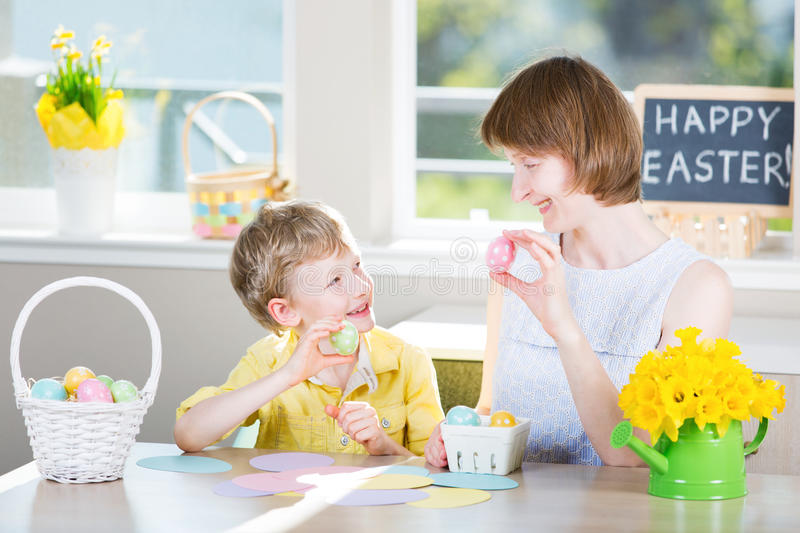 Family easter time royalty free stock photo