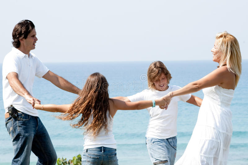 Download Family Enjoying Beautiful Day Stock Image - Image of coast, happy: 11309503