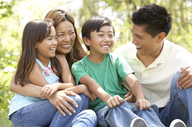 Download Family Enjoying Day In Park Stock Image - Image: 12405319