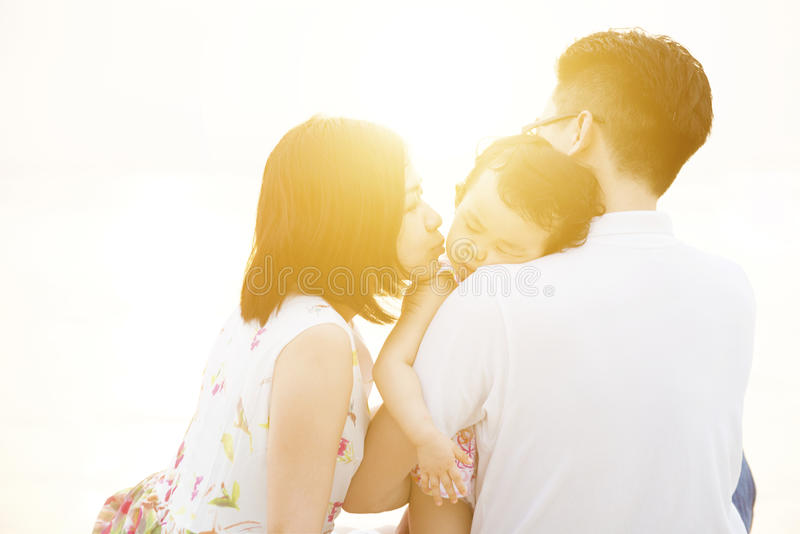 Family enjoying quality time together royalty free stock photography