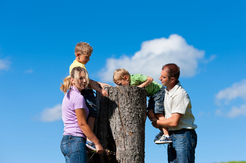 Download Family On Excursion In Summer Stock Photo - Image: 21661290