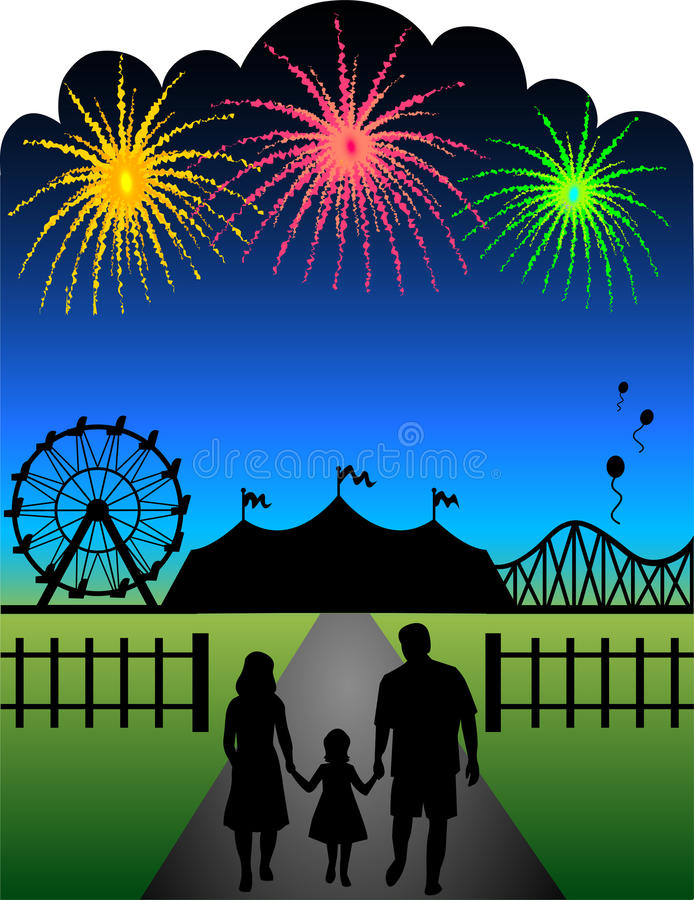 Free Family Fair Fireworks/eps Stock Photo - 9759580