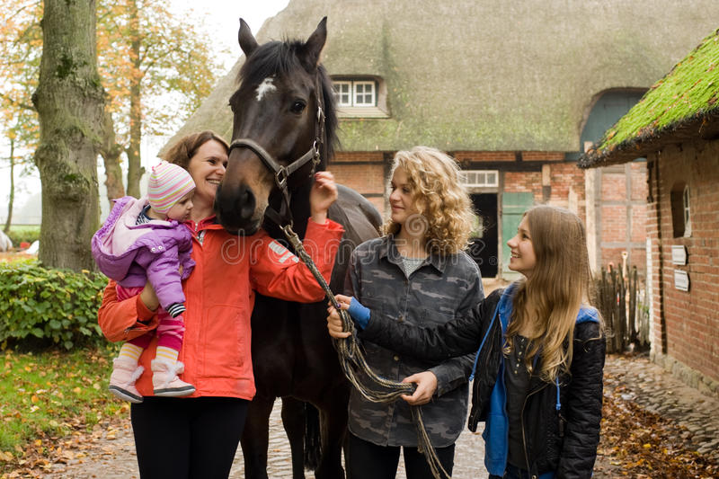 Family on the farm royalty free stock photography