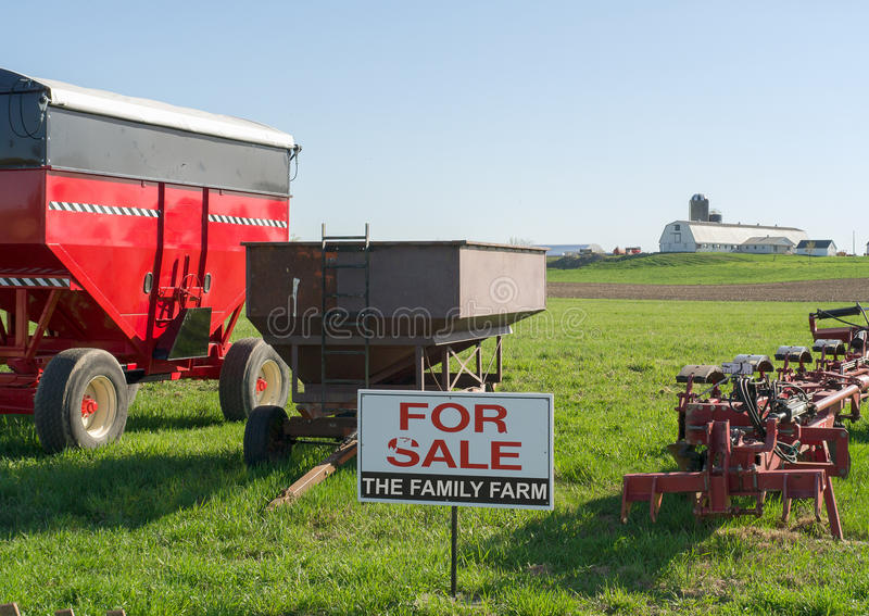 Family Farm for Sale. Abstract Photo representing family farm for sale stock images