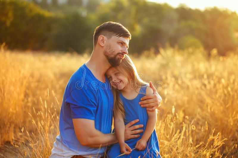 Family. Father and daughter. Leisure royalty free stock image
