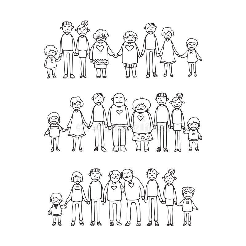 Family-02 felice illustrazione vettoriale
