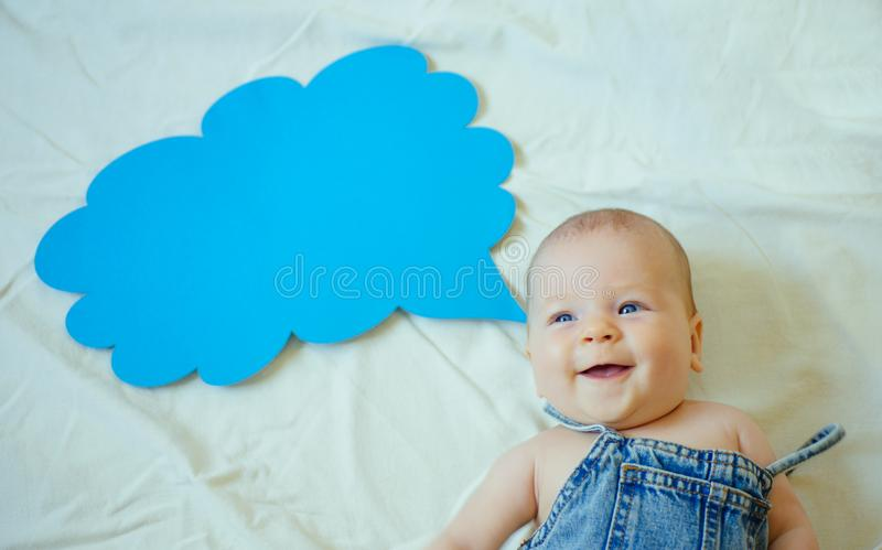 Family firstly. Sweet little baby. New life and birth. Small girl. I can speak. Word in cloud. Family. Child care stock images