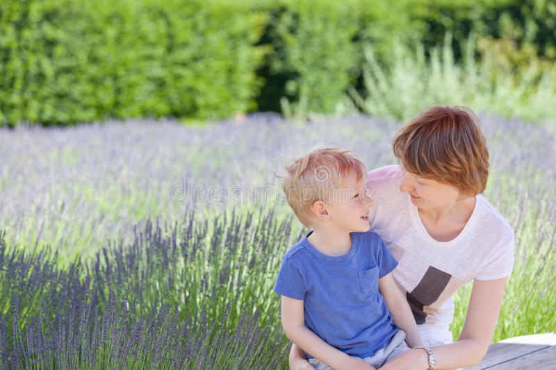 Download Family at flower field stock image. Image of beautiful - 31788389