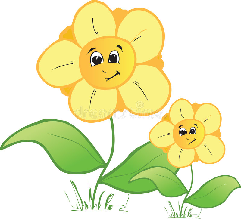 Family flowers. Illustration of two family flowers royalty free illustration