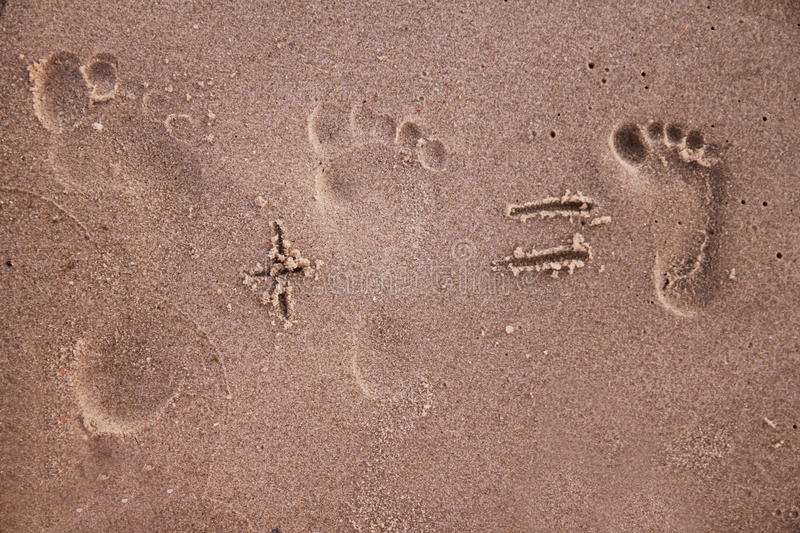 Download Family Footprints In The Sand Stock Illustration - Image: 32382383