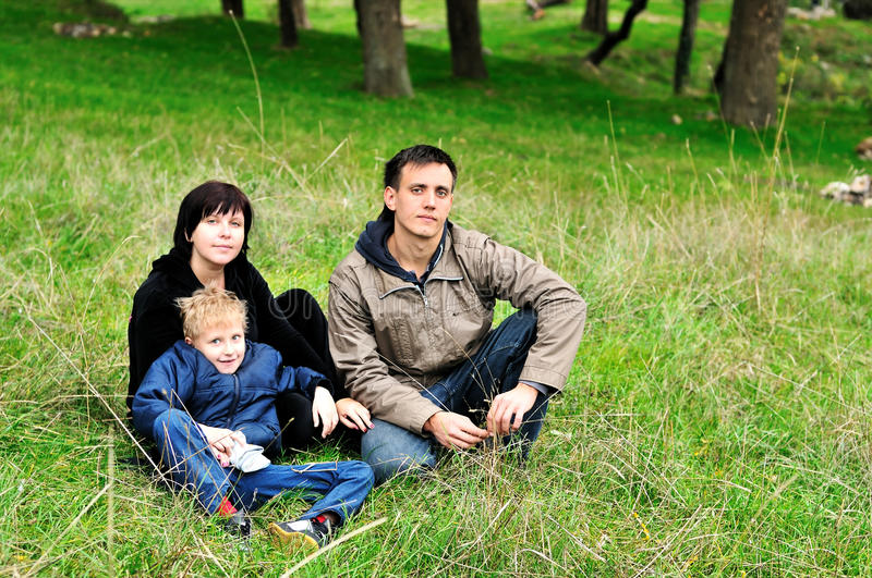 Family In Forest Stock Photos