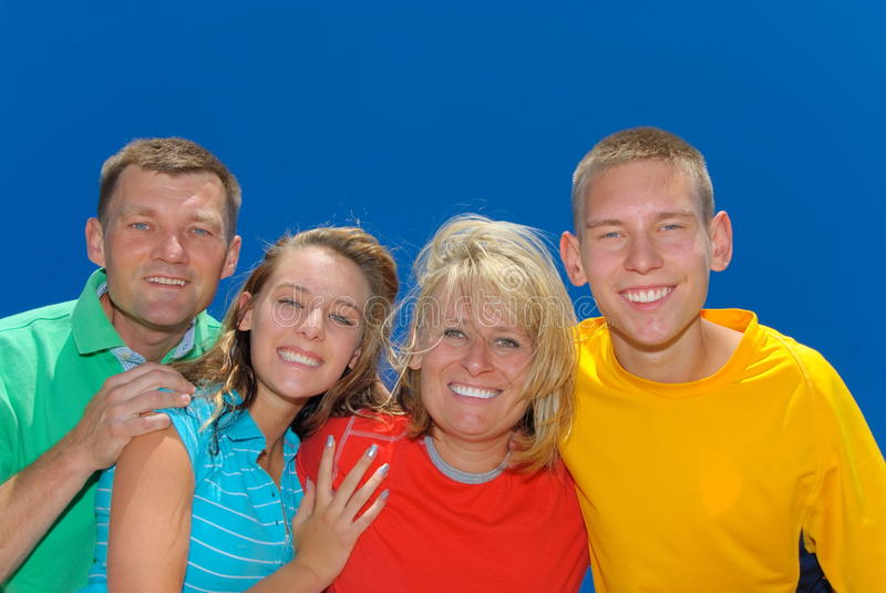Family of four royalty free stock images