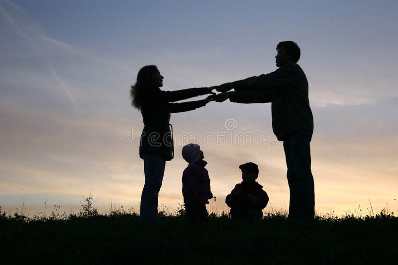 Download Family of four stock image. Image of mother, hold, couple - 1431707