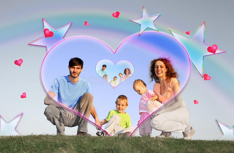 Download Family of four collage stock photo. Image of order, four - 12262886