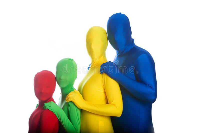 Download Family Of Four Colorful People Stock Image - Image: 24826477