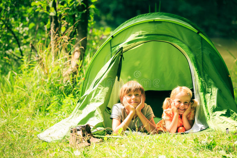 Download Family Of Four Having Fun Outdoors In The Summer Stock Image - Image: 83700335