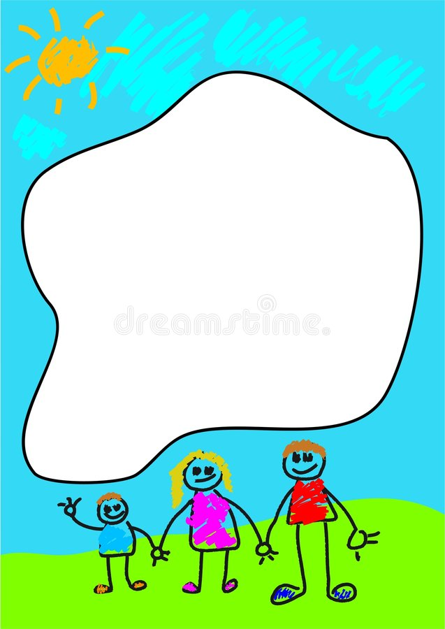 Family Frame vector illustration