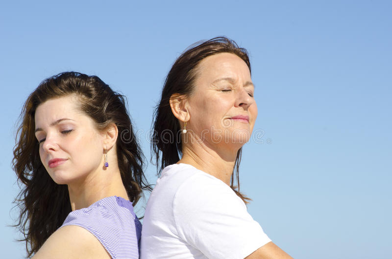 Family Friendship mother and daughter stock image