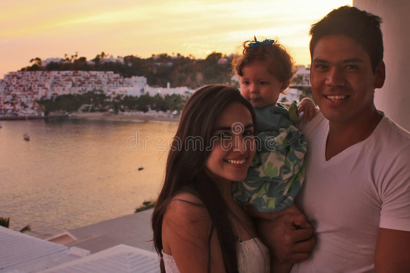 Download Family in front of sunset stock photo. Image of ocean - 18227580