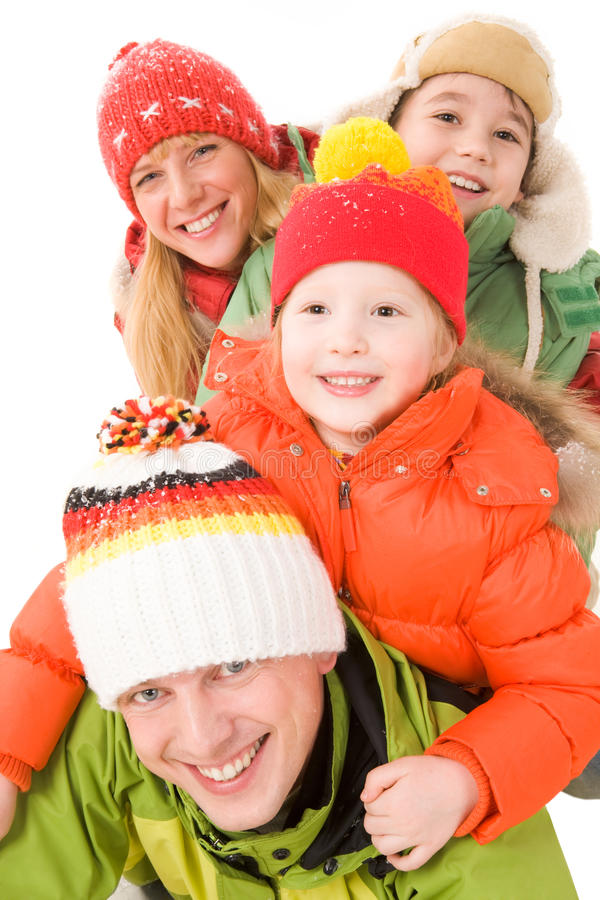 Family fun stock images