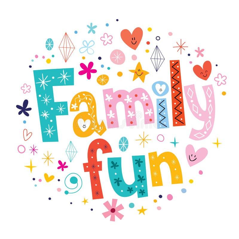 Family fun royalty free illustration