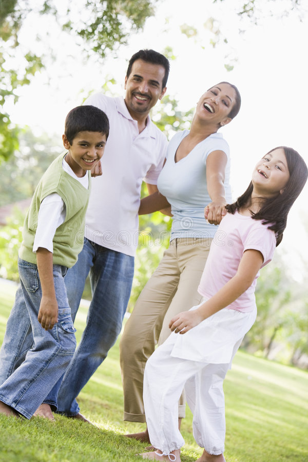 family fun having park στοκ εικόνα